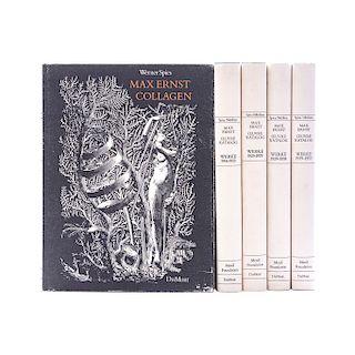 Spies, Werner.  Max Ernst. Oeuvre - Katalog / Max Ernst - Collagen. Texas - Köln, 1974 - 1987. Piezas: 5.