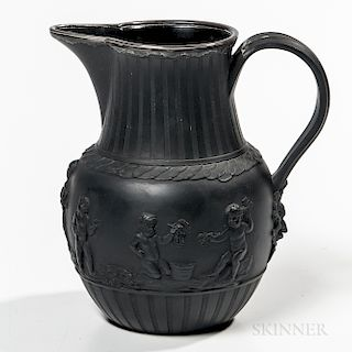 Wedgwood Silver-mounted Black Basalt Jug