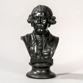 Wedgwood Black Basalt Bust of Josiah Wedgwood