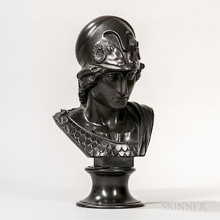 Wedgwood Black Basalt Bust of Minerva