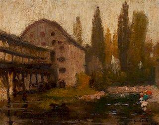 * Gustav Goetsch, (American, 1877-1969), Moret Barn, 1905
