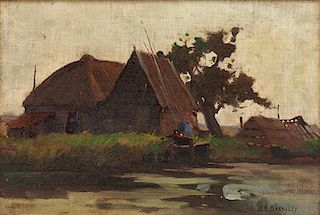 * James MacDonald Barnsley, (Canadian, 1861-1929), Cottage by the River