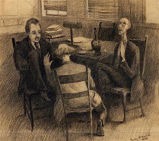 * Gustav Goetsch, (American, 1877-1969), The Office, 1944