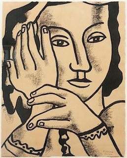 After Fernand Leger, (French, 1881-1955), From Contrastes, 1959