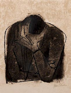 Ben Shahn, (American, 1898-1969), Crying Man