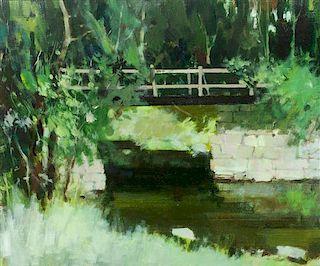 * William Showell, (Canadian, 1903-1984), Bridge in Vermont (Le Calme d'un Ruisseau)