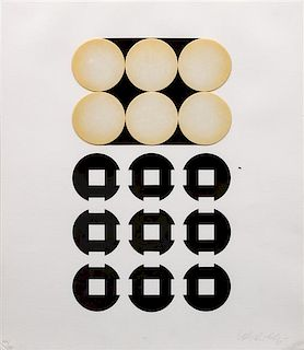 Victor Vasarely, (Hungarian, 1908-1997), Untitled (from Decartes Le Discours de le Methode), 1969