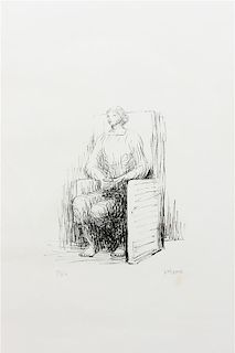 Henry Moore, (British, 1898-1986), Seated Woman in Armchair, 1973