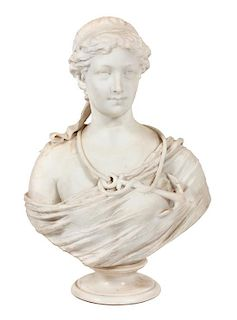 * A Marble Bust Height 28 inches.