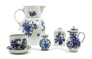 * A Group of Transferware Porcelain Table Articles Height of tallest 8 7/8 inches.