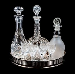 * A Group of Three Decanters Height of tallest 11 1/4 inches.
