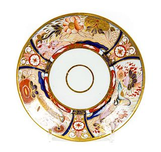 * A Chamberlain Worcester Porcelain Plate Diameter 8 3/8 inches.