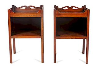 * A George III Mahogany End Table Height 26 1/2 x width 17 x depth 13 3/4 inches.