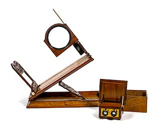 * Two Victorian Optic Viewers Height of first: 25 1/2 inches.