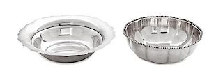 * Two American Silver Bowls, S. Kirk & Sons, Baltimore, MD and Whiting Mfg. Co, New York, NY, the first with scalloped rim, the
