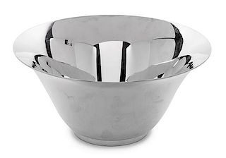 An American Silver Bowl, Tiffany & Co., New York, NY, Early 20th Century, with flared lip.