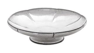 * An American Silver Footed Bowl, Lebolt & Co., Chicago, IL, with hammered surfaces.