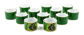 * An Assorted Group of Twelve Lynn Chase Porcelain Coffee Cups Height: 2 1/4 inches (each).