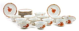 * An Assorted Group of Coffee and Tea Cups and Saucers Diameter of saucer: 5 3/4 inches.