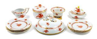 * An Assorted Group of Porcelain Table Articles Diameter of first: 6 1/2 inches.