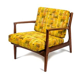 * A Danish Lounge Chair Height 26 1/2 inches.