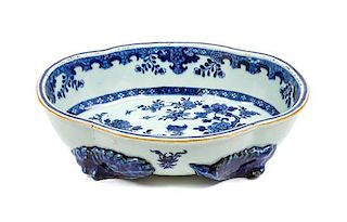 * A Chinese Export Porcelain Center Bowl Diameter 12 1/4 inches.