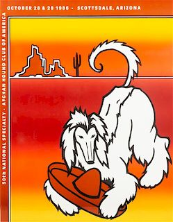 * A Group of Three Afghan Hound Posters Each: 28 x 21 1/2 inches.