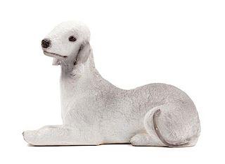 * A Bedlington Terrier Ceramic Figure Width 7 3/4 inches.