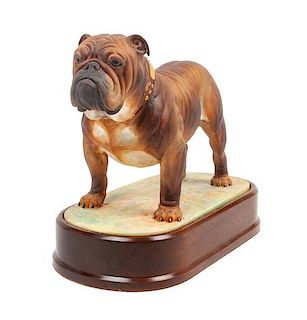 * A Royal Worcester Bulldog Width 10 1/2 inches.