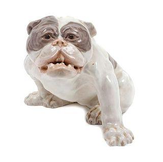 * A Royal Copenhagen Bulldog Figure Height 9 1/4 inches.