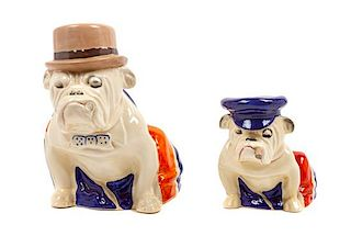 * Two Royal Doulton Bulldogs Height of taller 7 1/2 inches.