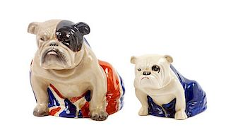 * Two Royal Doulton Bulldogs Height of taller 6 inches.
