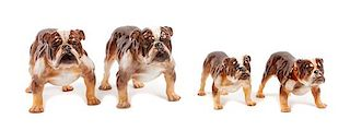 * A Group of Four Royal Doulton Bulldogs Width of widest 8 inches.