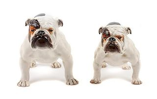 * Two Royal Doulton Bulldogs Width of wider 9 inches.