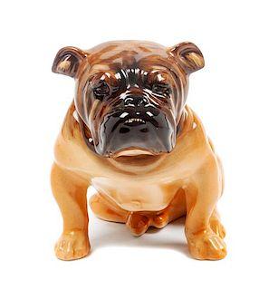 * A Royal Doulton Bulldog Height 6 inches.