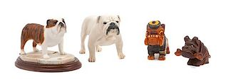 * A Group of Four Bulldogs Width of widest 8 inches.
