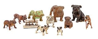 * A Group of Eleven Metal Bulldogs Width of widest 3 inches.