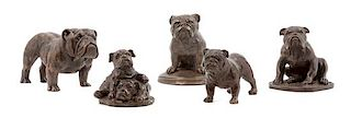* A Group of Five Composite Bulldogs Width of widest 6 inches.