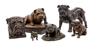 * A Group of Six Bulldogs Width of widest 10 1/2 inches.