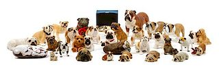 * A Group of Thirty-One Bulldog Figures Width of widest 8 1/2 inches.