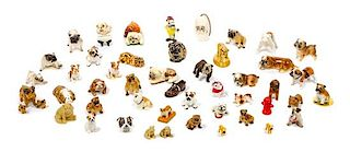 * A Group of Sixty-Four Bulldog Figures Width of widest 7 inches.