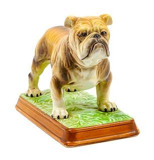 * A Mack Trucks Ceramic Bulldog Figure Width 8 1/2 inches.