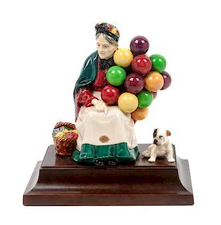 * A Royal Doulton English Bulldog Figural Group Height overall 9 1/2 inches.