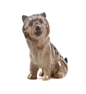 * A Royal Doulton Porcelain Cairn Terrier Height 2 1/2 inches.