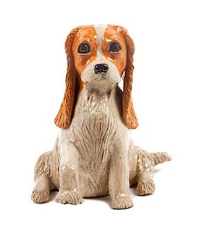 * A Ceramic Cavalier King Charles Spaniel Height 10 1/4 inches.