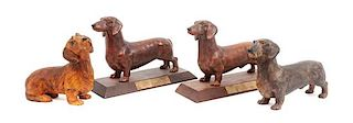 * A Group of Four Dachshunds Width of widest 10 inches.