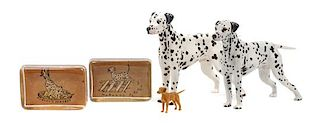 * A Group of Five Dalmatians Width of widest 9 inches.