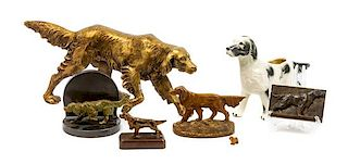* A Group of Seven English Setter Figures Width of widest 15 1/4 inches.