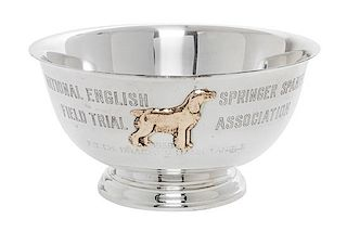 * An American Silver Bowl, International Silver Co., Meriden, CT, National English Springer Spaniel Field Trial Association, 195