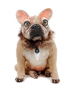 * A French Bulldog Figure Height 13 1/4 inches.